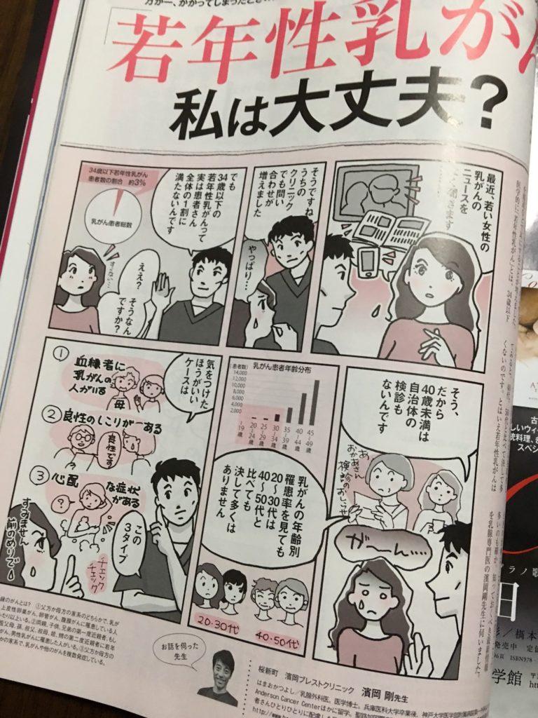 9月23日発売『美的11月号』 若年性乳がん 私は大丈夫?