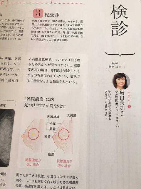 乳がん検診の話題で、私、増田美加。