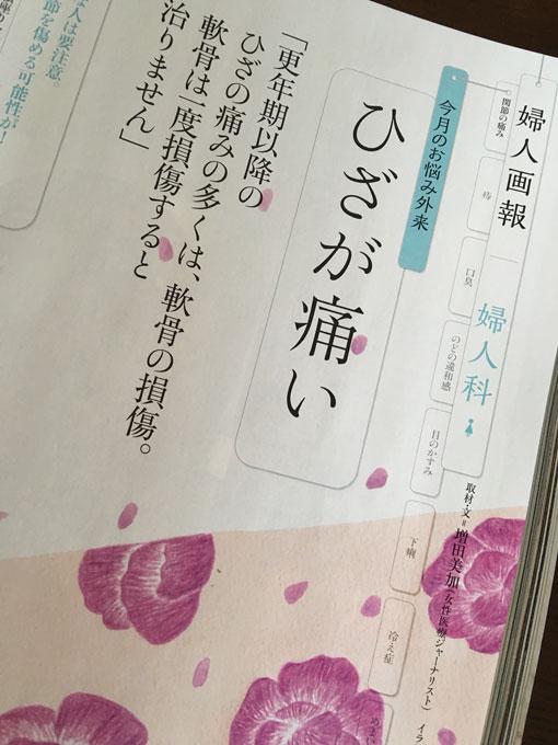 4月1日発売『婦人画報5月号』「ひざが痛い」