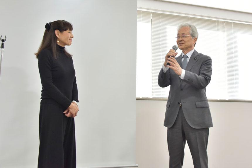 秋野さん、本間先生